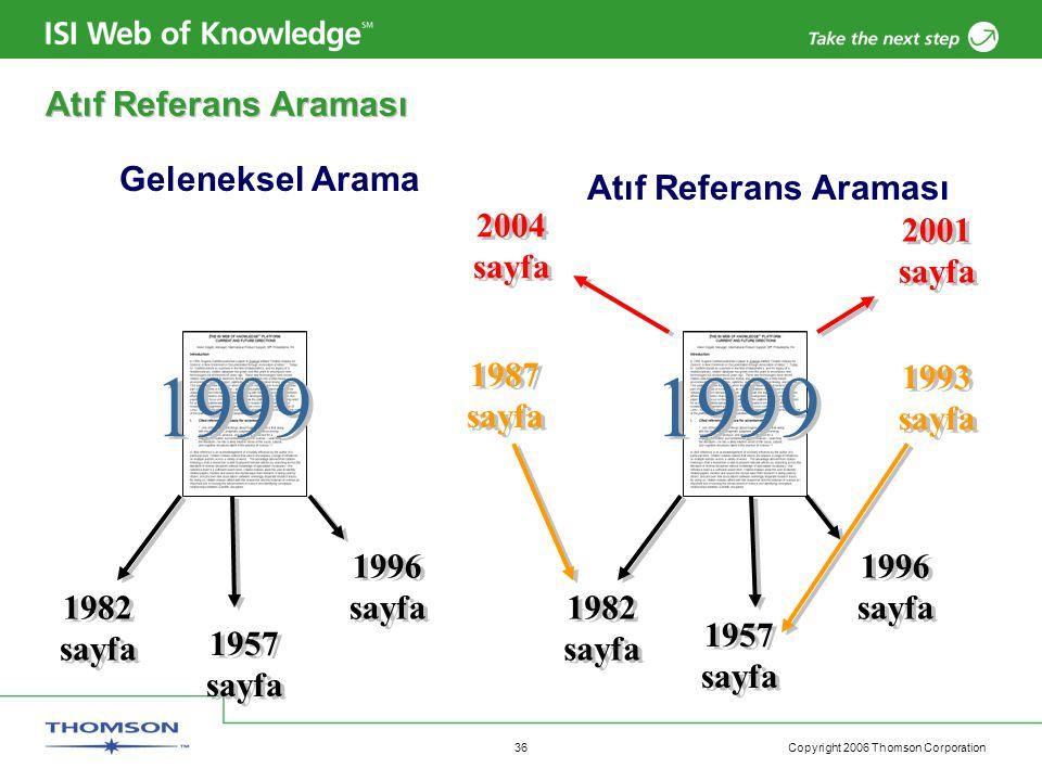 1999 1999 Atıf Referans Araması Geleneksel Arama Atıf Referans Araması