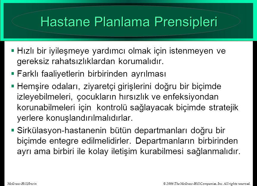 Hastane Planlama Prensipleri