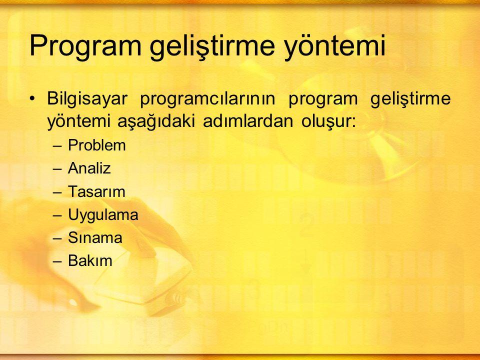 Program geliştirme yöntemi