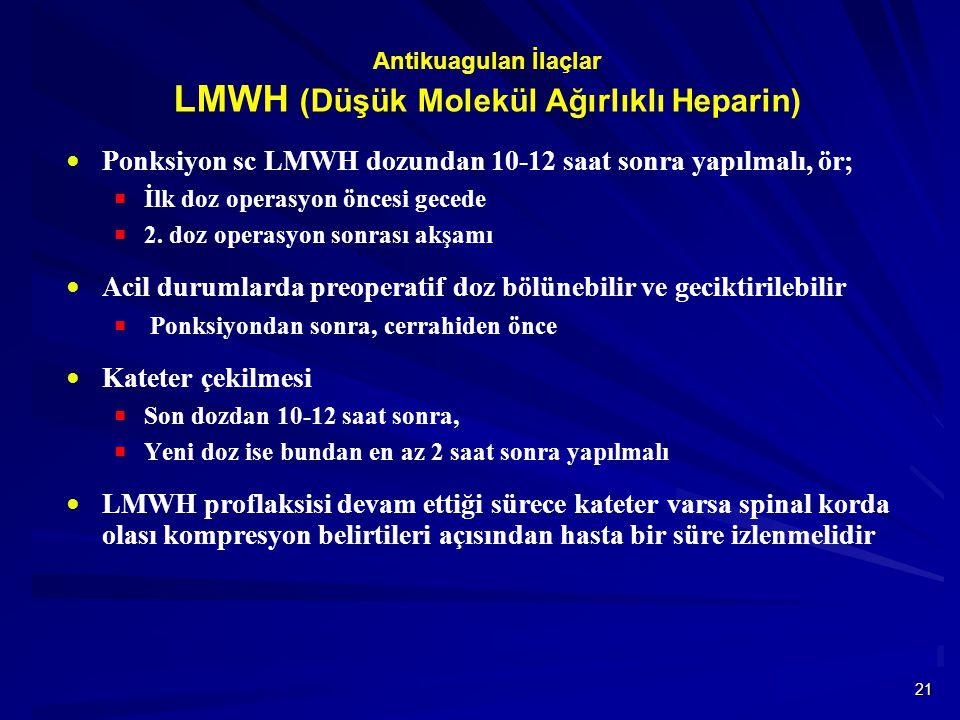 Antikuagulan İlaçlar LMWH (Düşük Molekül Ağırlıklı Heparin)