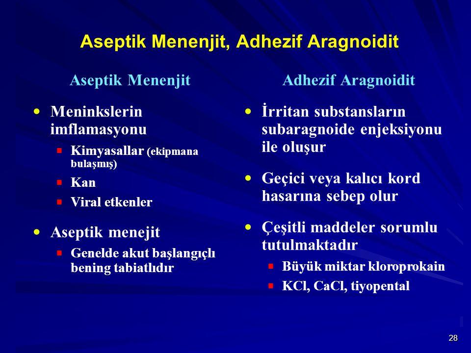 Aseptik Menenjit, Adhezif Aragnoidit
