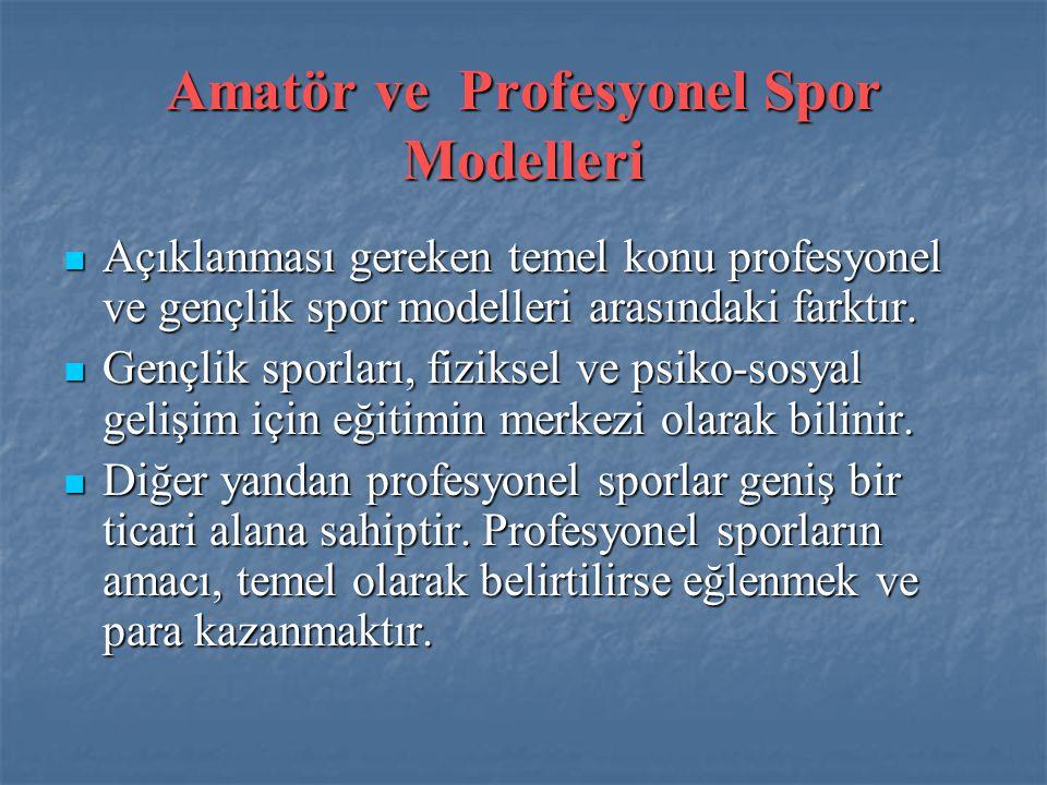 Amatör ve Profesyonel Spor Modelleri