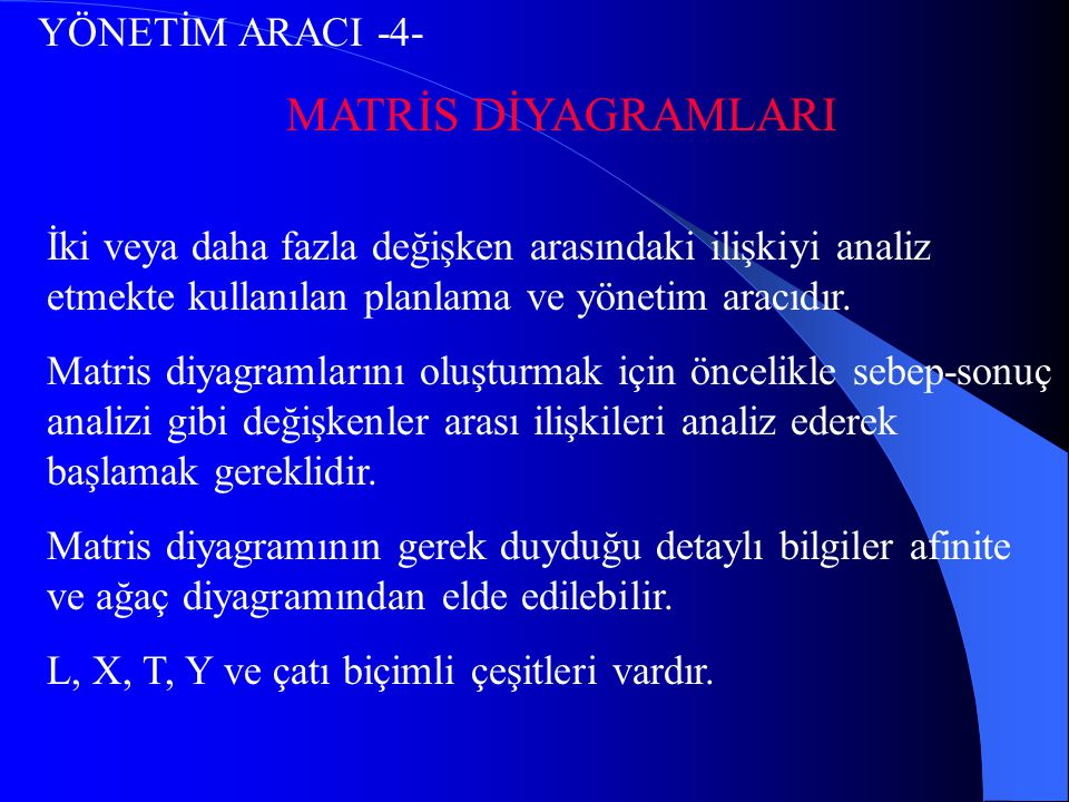 MATRİS DİYAGRAMLARI YÖNETİM ARACI -4-