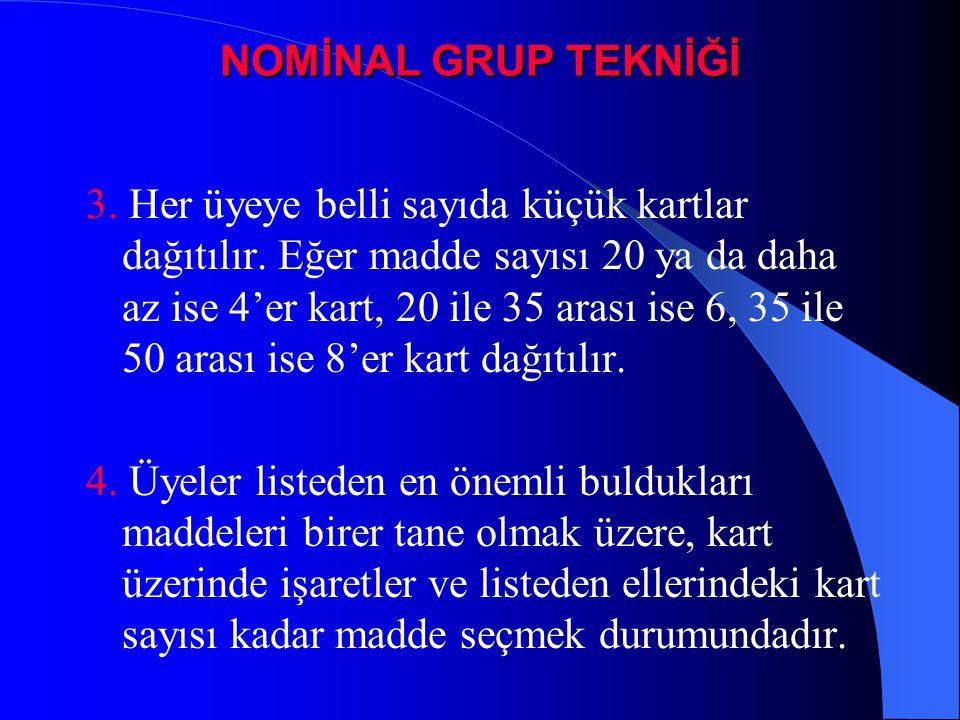 NOMİNAL GRUP TEKNİĞİ