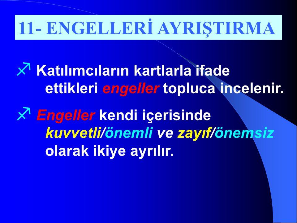 11- ENGELLERİ AYRIŞTIRMA