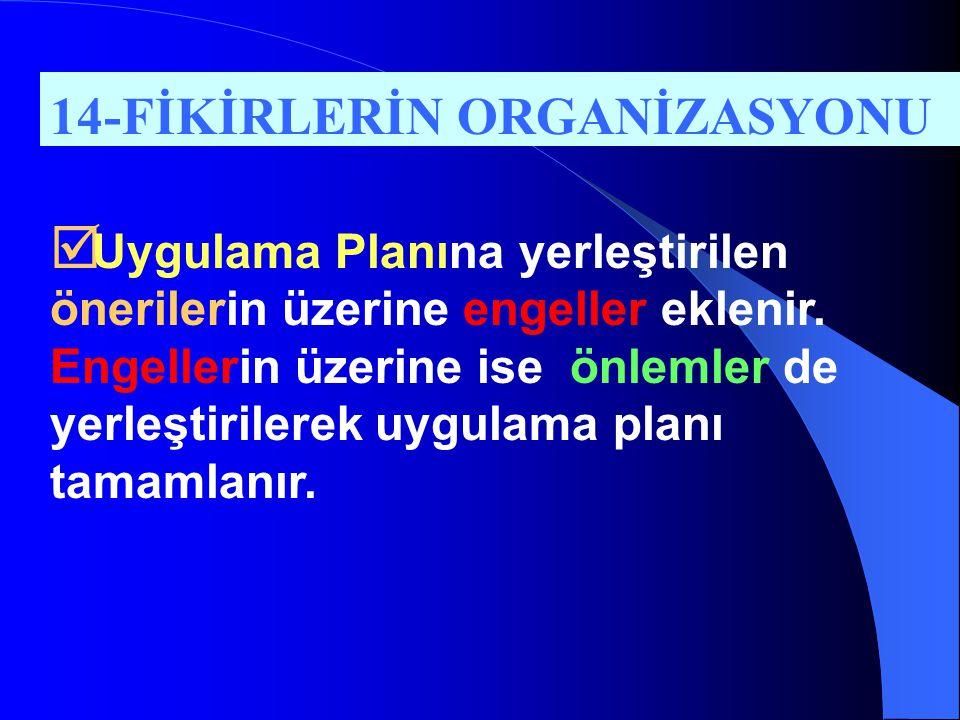 14-FİKİRLERİN ORGANİZASYONU