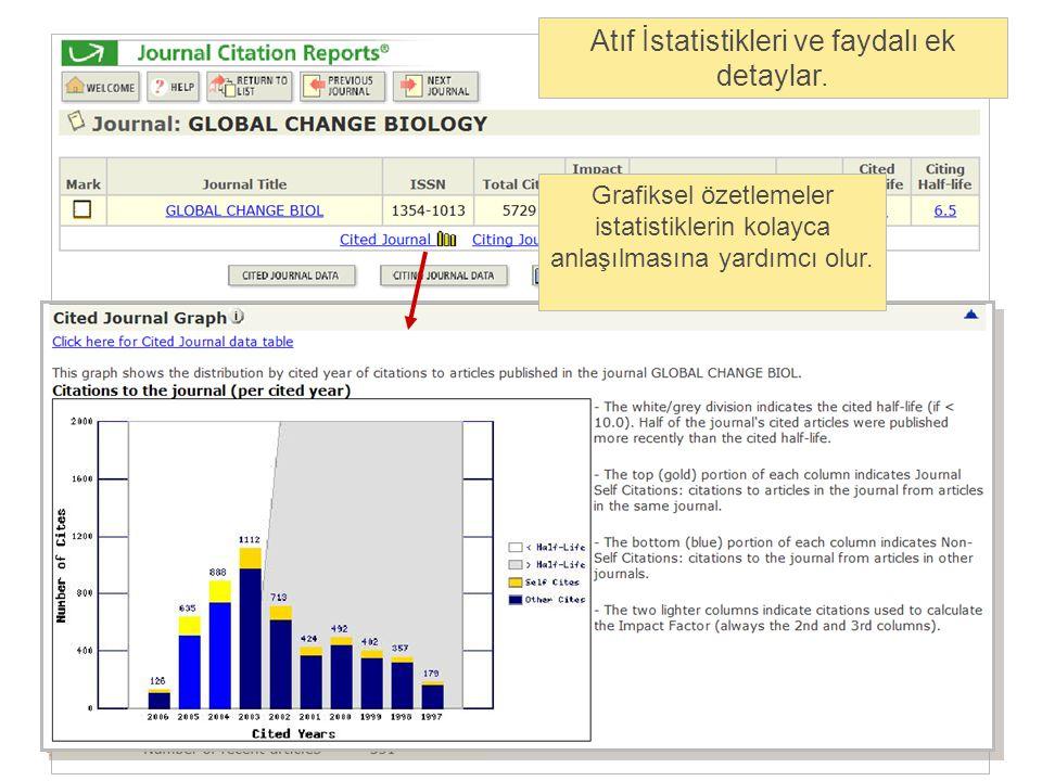 Atıf İstatistikleri ve faydalı ek detaylar.