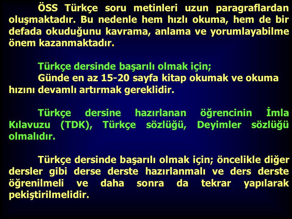 Türkçe dersinde başarılı olmak için;