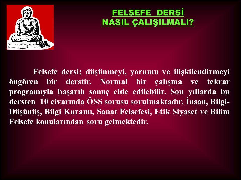 FELSEFE DERSİ NASIL ÇALIŞILMALI