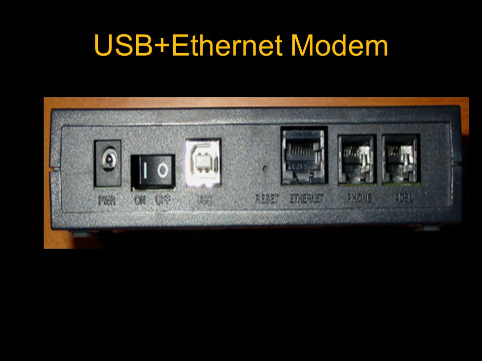 USB+Ethernet Modem
