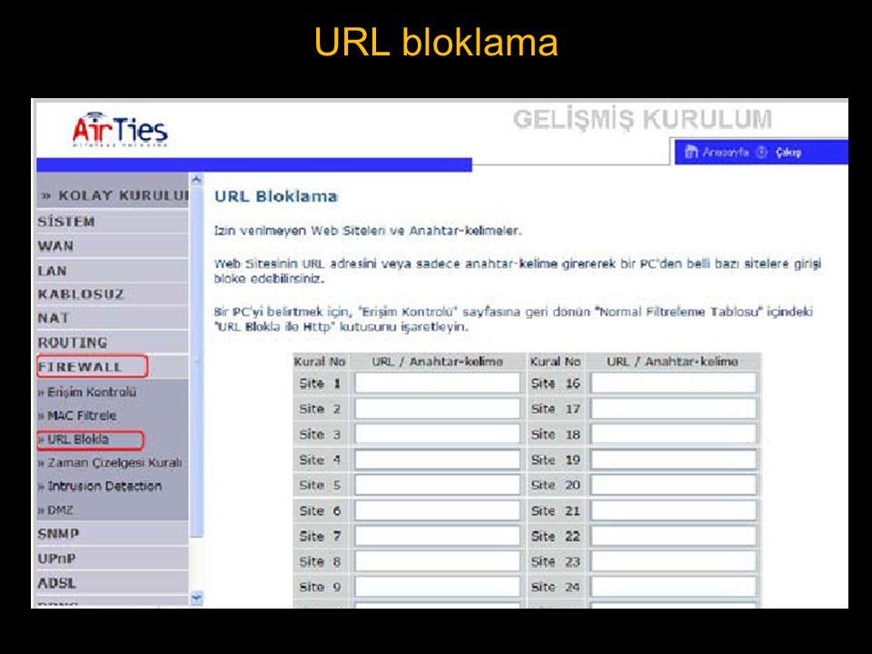 URL bloklama