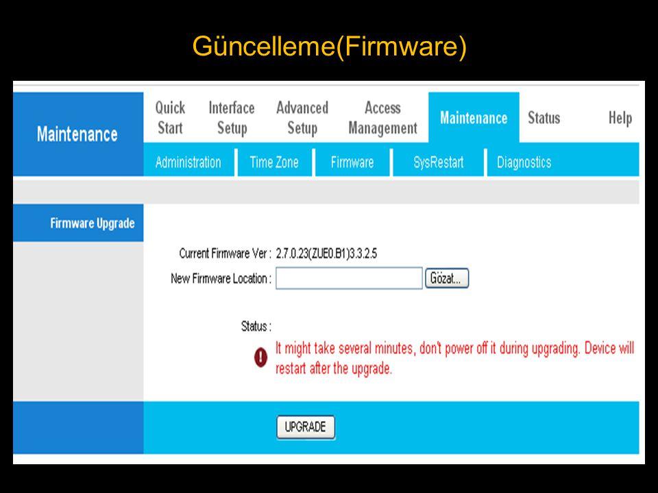 Güncelleme(Firmware)