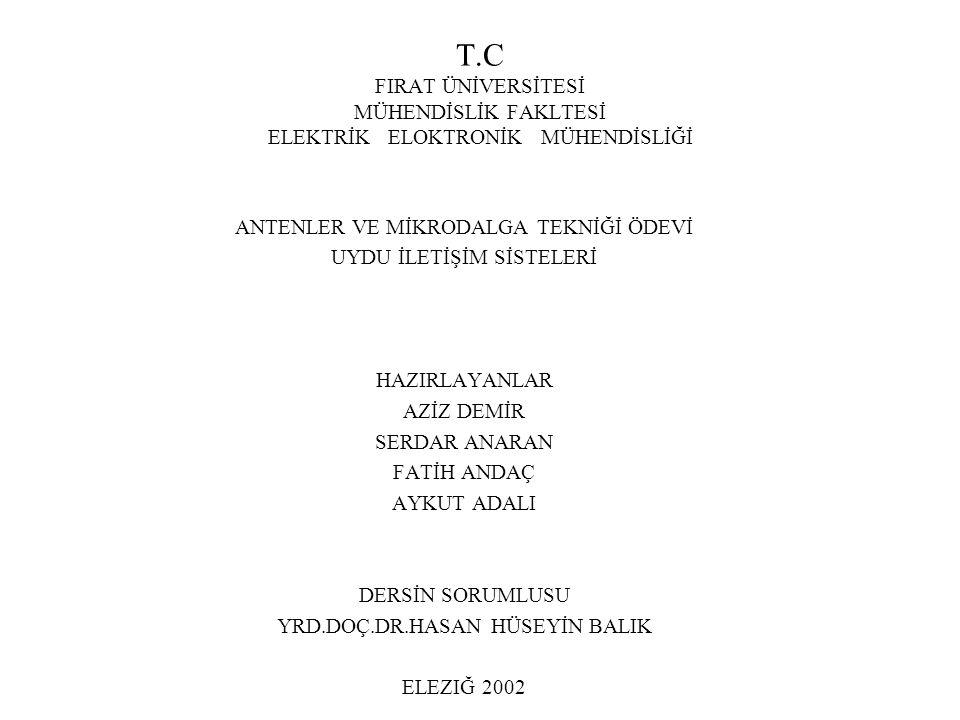 T.C FIRAT ÜNİVERSİTESİ MÜHENDİSLİK FAKLTESİ ELEKTRİK ELOKTRONİK MÜHENDİSLİĞİ