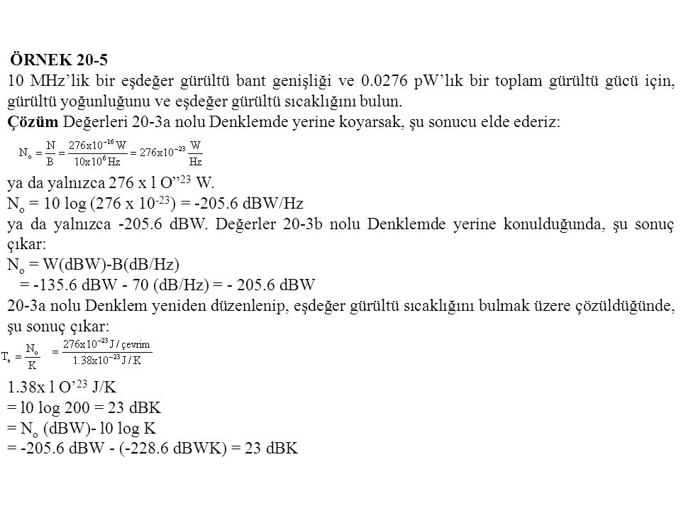 ÖRNEK 20-5