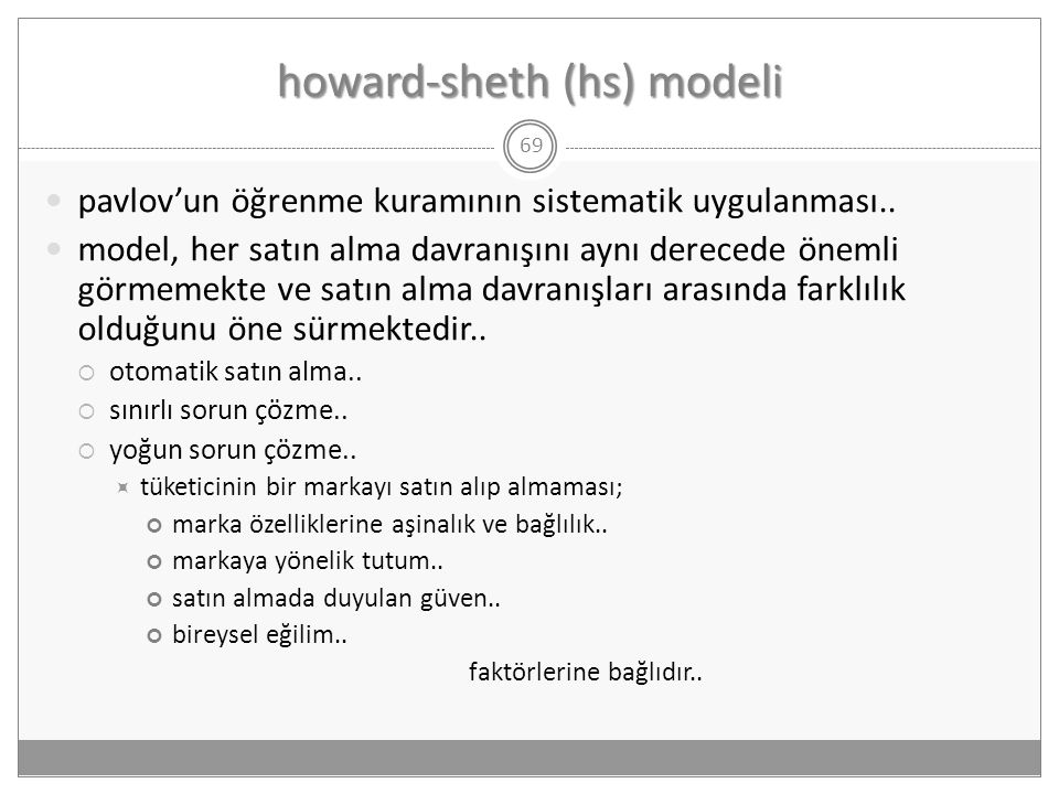 howard-sheth (hs) modeli