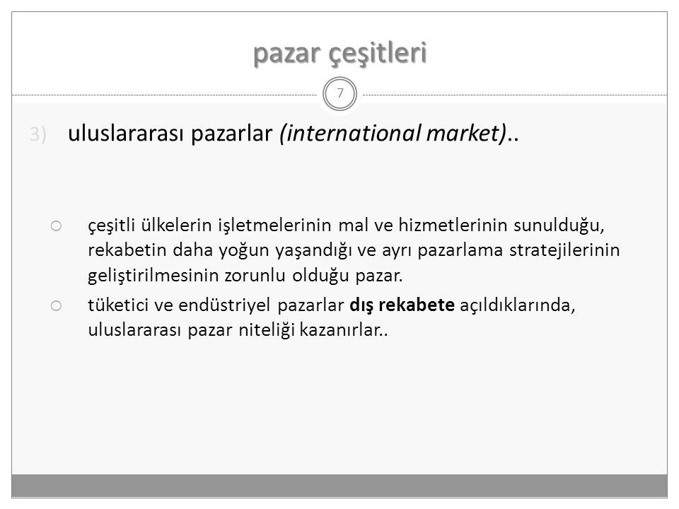pazar çeşitleri uluslararası pazarlar (international market)..