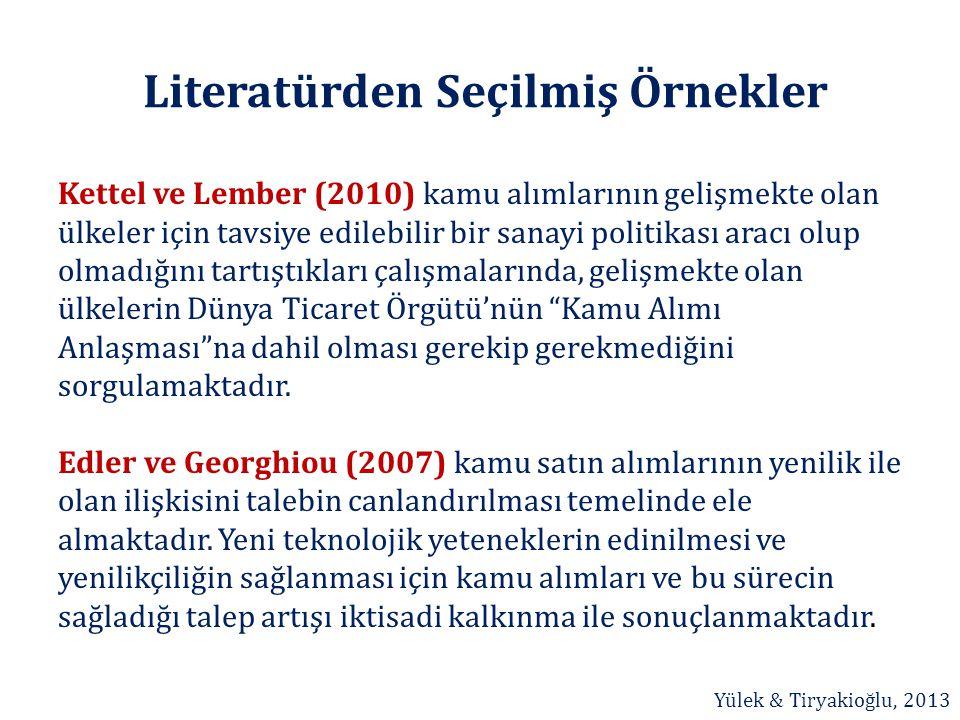 Literatürden Seçilmiş Örnekler