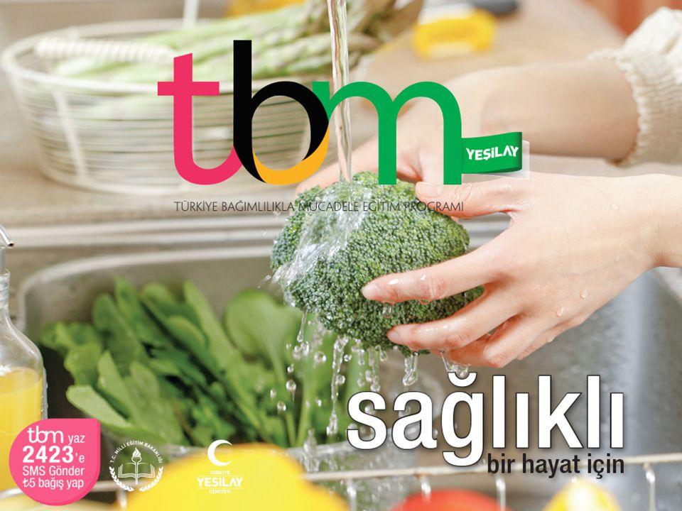 Bu sunuda TBM için hazırlanmış olan «Sağlıklı Bir Hayat İçin» adlı (Metin: Uğur Evcin, 2014, İstanbul: Yeşilay Yayını) broşürden yararlanılmıştır.