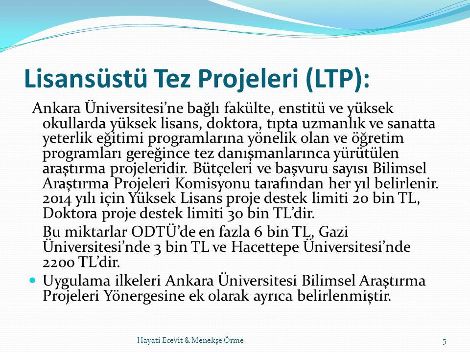 Lisansüstü Tez Projeleri (LTP):