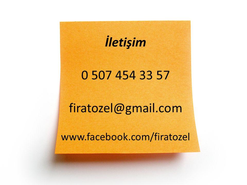 İletişim 0 507 454 33 57 firatozel@gmail. com www. facebook