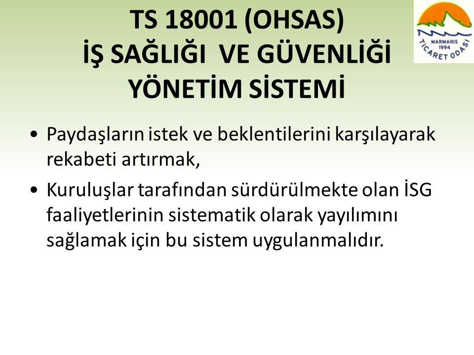 TS 18001 (OHSAS) İŞ SAĞLIĞI VE GÜVENLİĞİ YÖNETİM SİSTEMİ