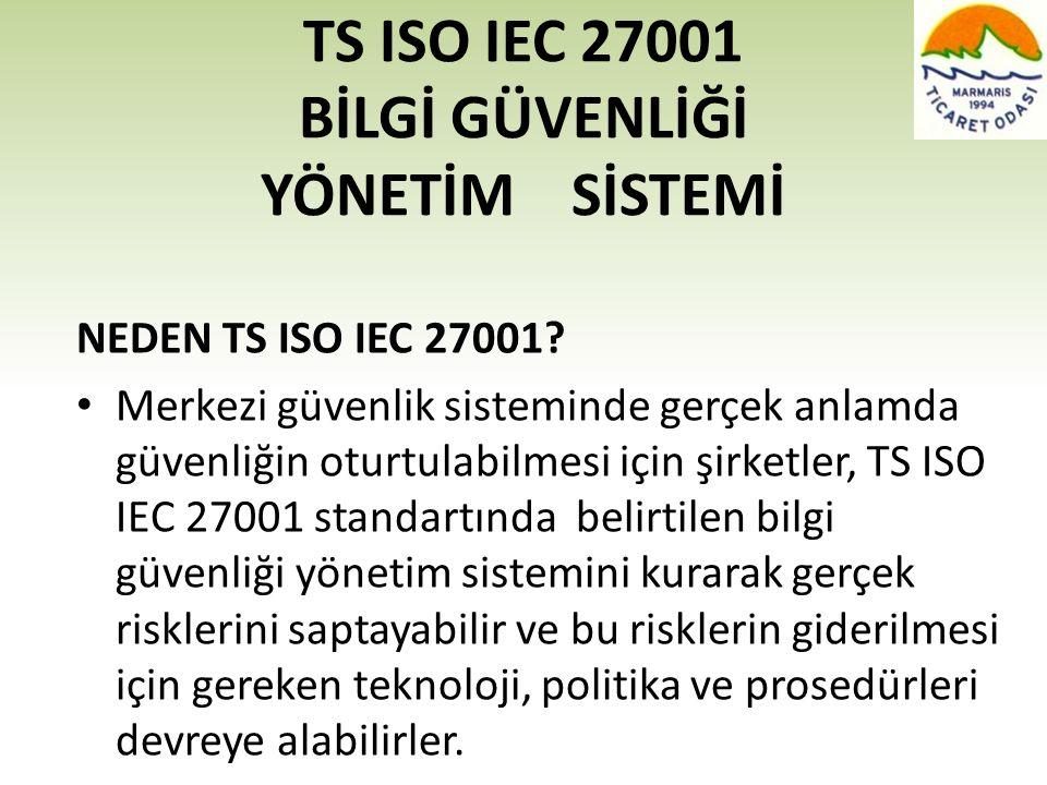TS ISO IEC 27001 BİLGİ GÜVENLİĞİ YÖNETİM SİSTEMİ