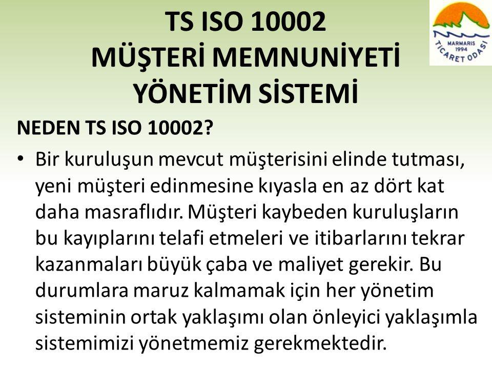 TS ISO 10002 MÜŞTERİ MEMNUNİYETİ YÖNETİM SİSTEMİ