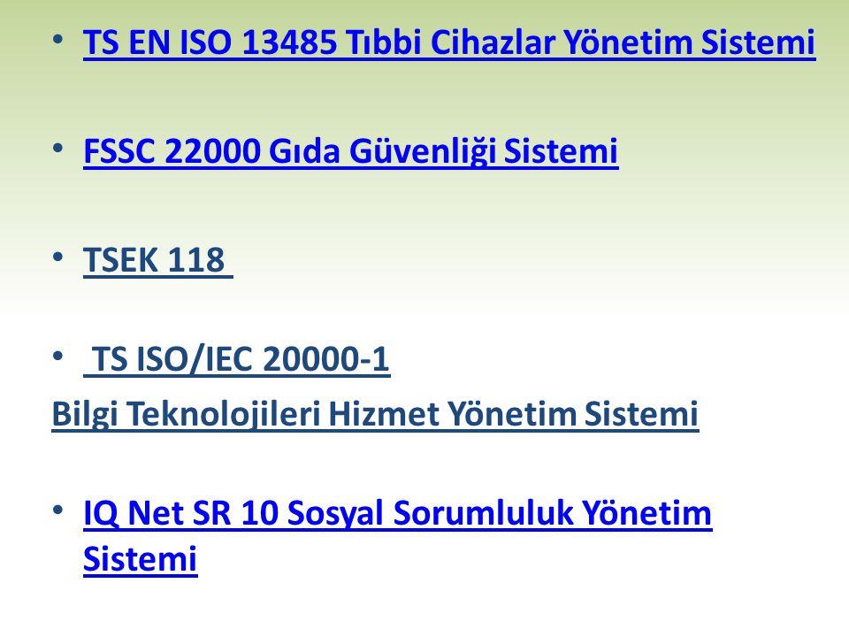 TS EN ISO 13485 Tıbbi Cihazlar Yönetim Sistemi