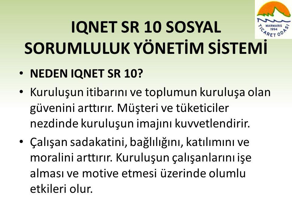 IQNET SR 10 SOSYAL SORUMLULUK YÖNETİM SİSTEMİ