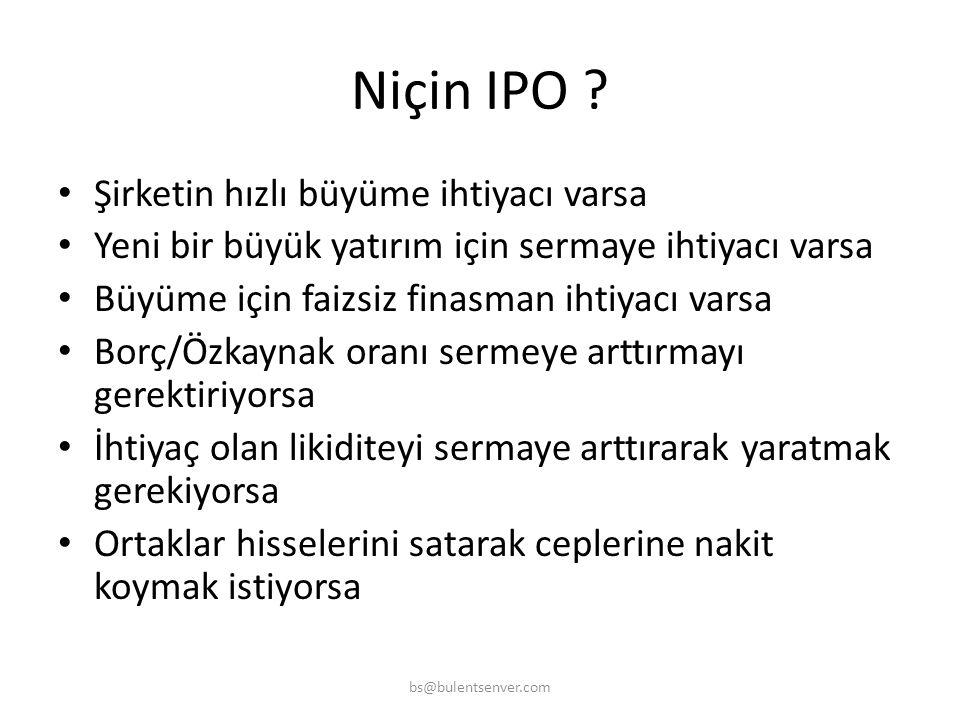 Niçin IPO Şirketin hızlı büyüme ihtiyacı varsa