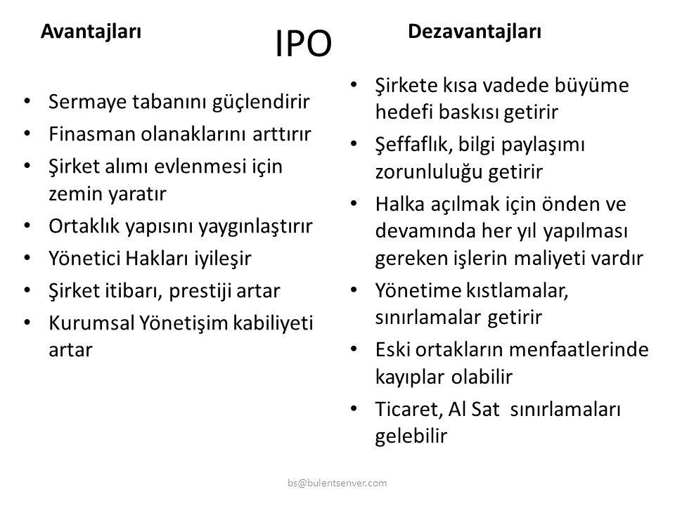 IPO Avantajları Dezavantajları