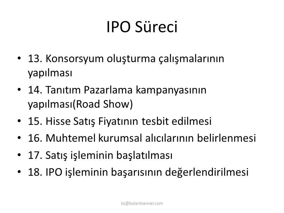 IPO Süreci 13. Konsorsyum oluşturma çalışmalarının yapılması