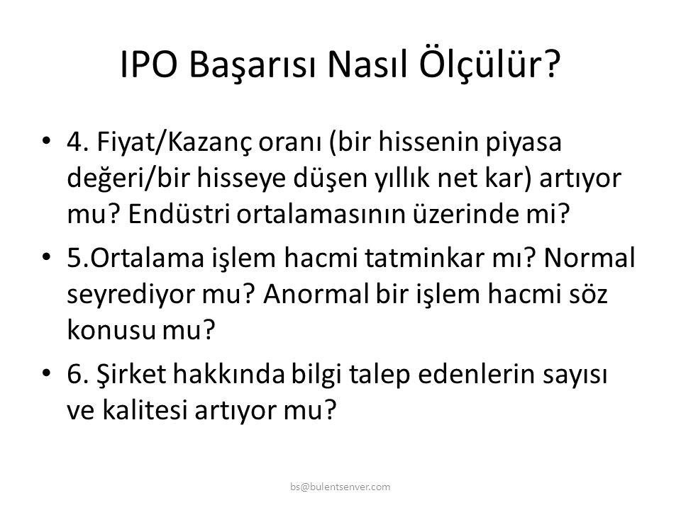 IPO Başarısı Nasıl Ölçülür