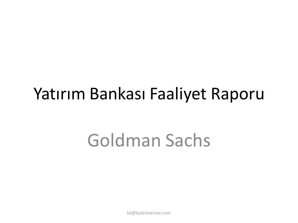 Yatırım Bankası Faaliyet Raporu