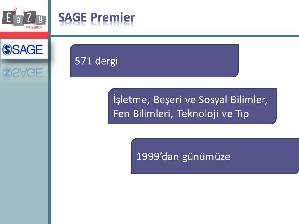 SAGE Premier 571 dergi. İşletme, Beşeri ve Sosyal Bilimler, Fen Bilimleri, Teknoloji ve Tıp.