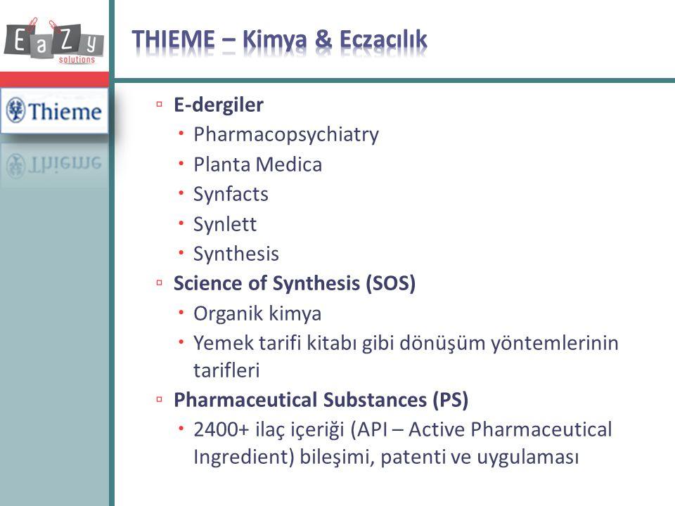 THIEME – Kimya & Eczacılık