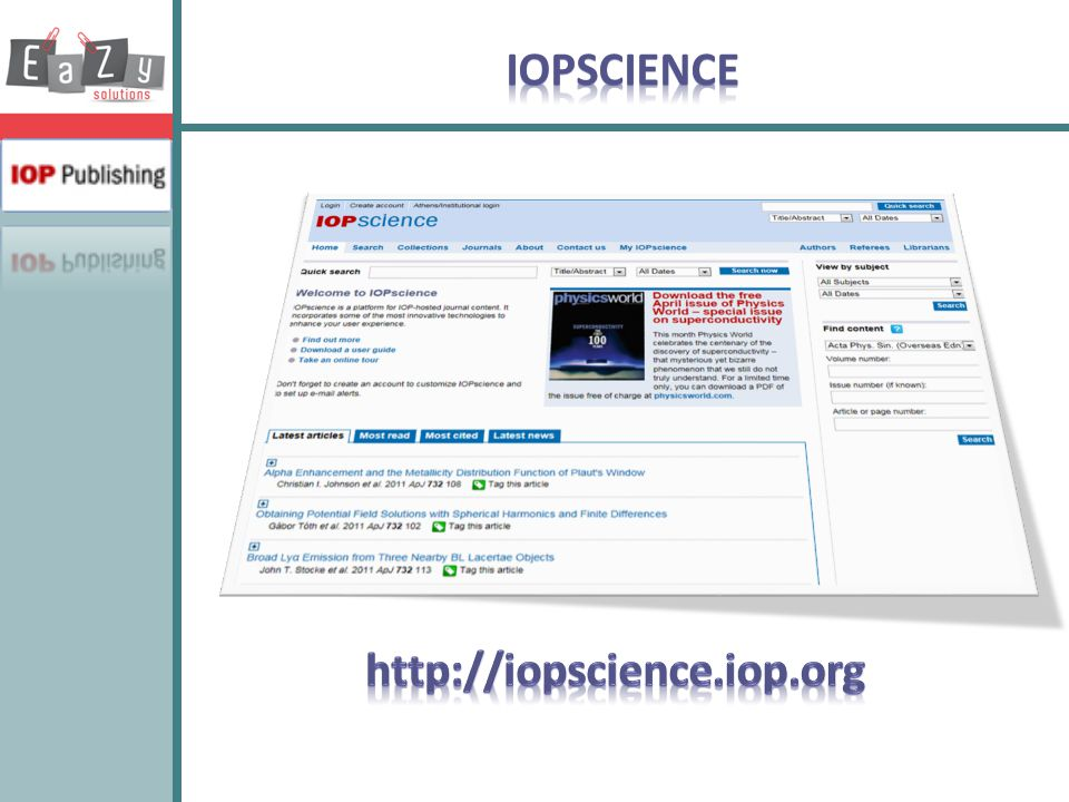 IOPSCIENCE http://iopscience.iop.org