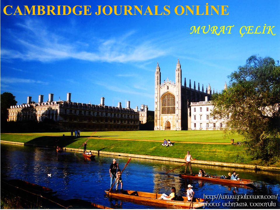 CAMBRIDGE JOURNALS ONLİNE