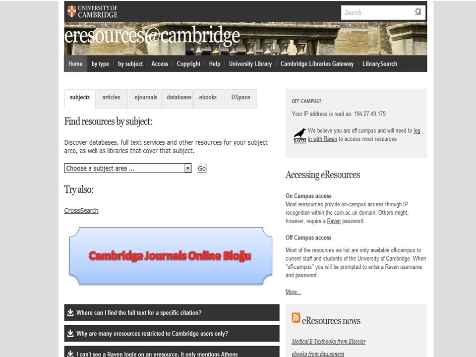 Cambridge Journals Online Bloğu