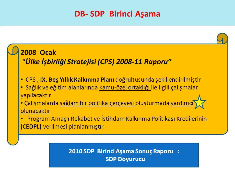 2010 SDP Birinci Aşama Sonuç Raporu :