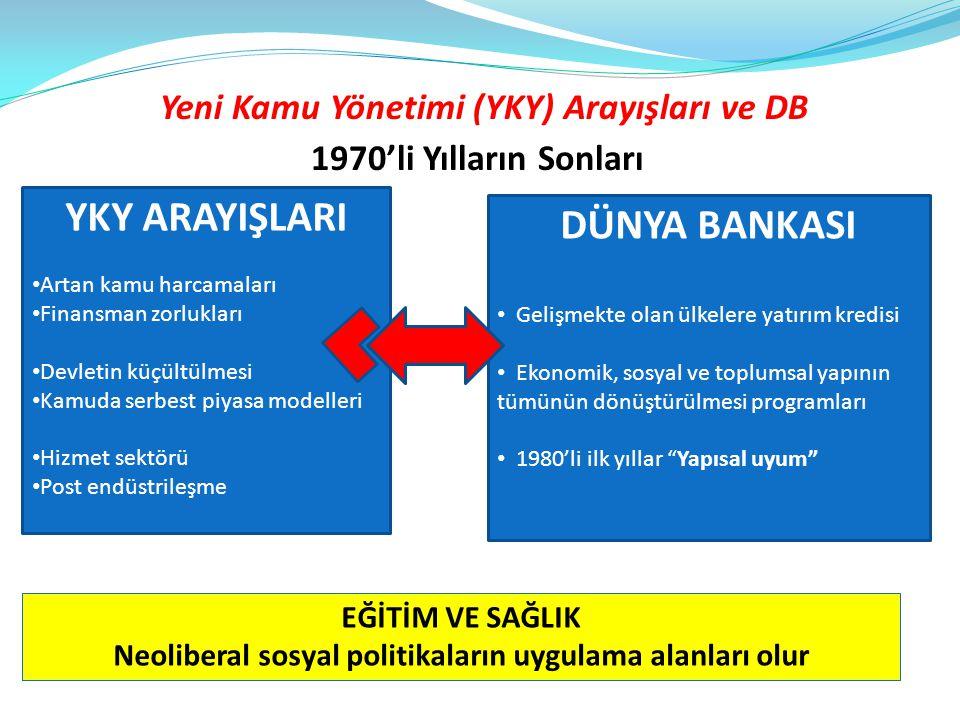 Yeni Kamu Yönetimi (YKY) Arayışları ve DB