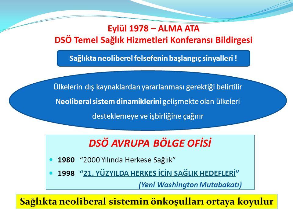 Eylül 1978 – ALMA ATA DSÖ Temel Sağlık Hizmetleri Konferansı Bildirgesi