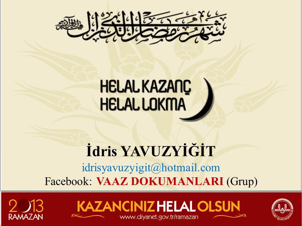 Facebook: VAAZ DOKUMANLARI (Grup)