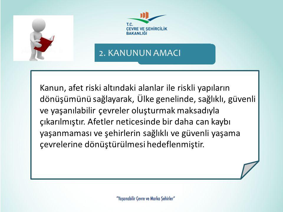 2. KANUNUN AMACI