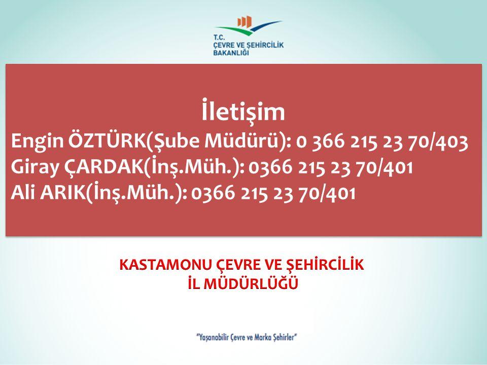 KASTAMONU ÇEVRE VE ŞEHİRCİLİK
