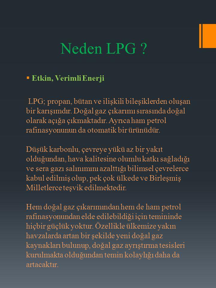 Neden LPG Etkin, Verimli Enerji