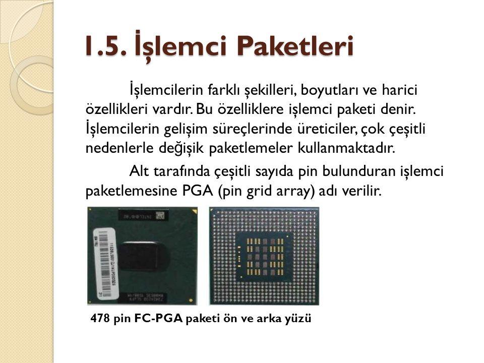1.5. İşlemci Paketleri