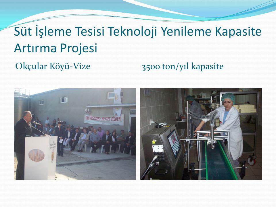 Süt İşleme Tesisi Teknoloji Yenileme Kapasite Artırma Projesi