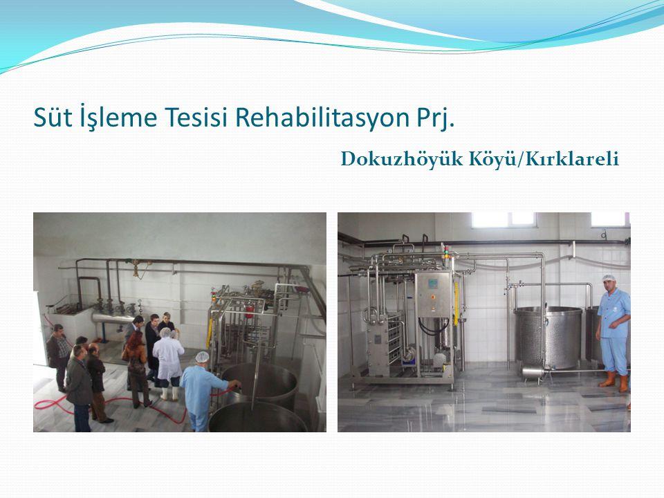 Süt İşleme Tesisi Rehabilitasyon Prj.