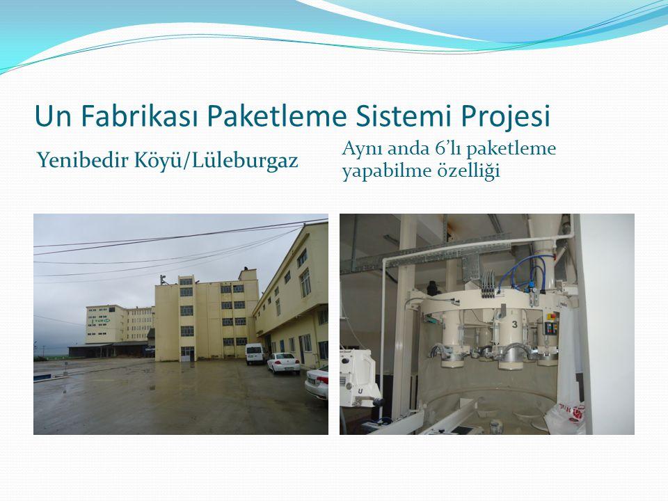 Un Fabrikası Paketleme Sistemi Projesi